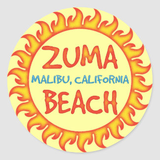 Zuma Beach Classic Round Sticker