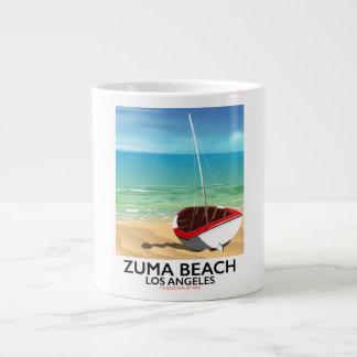 Zuma Beach LA Rail beach poster Giant Coffee Mug