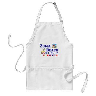 Zuma Beach - Maritime Flag Spelling Adult Apron