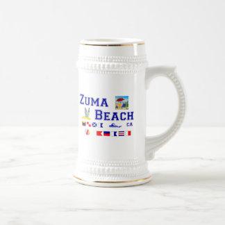 Zuma Beach - Maritime Flag Spelling Mug