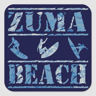 Zuma Beach Square Sticker