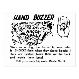 Zumbador de la mano del truco mágico de la mordaza postal