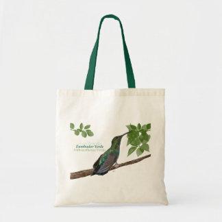 Zumbador Verde de Puerto Rico/bolso verde del mang Bolsa