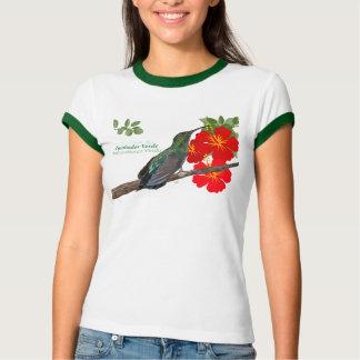 Zumbador Verde de Puerto Rico/camisa verde del Poleras