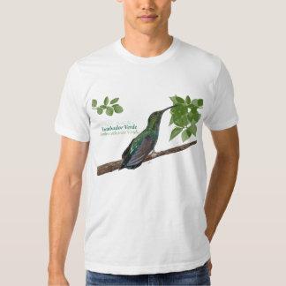 Zumbador Verde de Puerto Rico/camisa verde del Remera