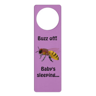 ¡Zumbido apagado! El dormir del bebé Colgadores Para Puertas