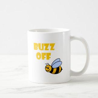 zumbido apagado taza de café