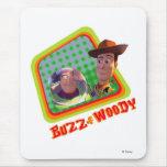 Zumbido de Toy Story y diseño de los amigos de Woo Alfombrilla De Ratones