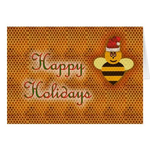 Zumbido del colmenar de la abeja de la miel de la  tarjeta