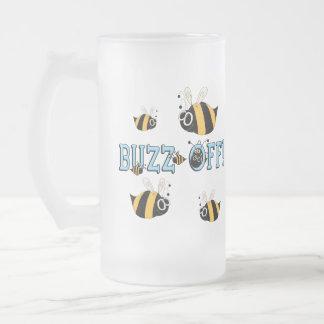 Zumbido del regalo divertido de los niños taza cristal mate