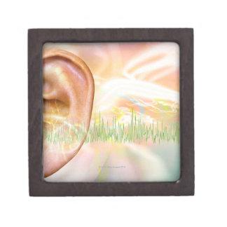Zumbido, ilustraciones conceptuales del ordenador caja de joyas de calidad