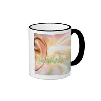 Zumbido, ilustraciones conceptuales del ordenador taza de café