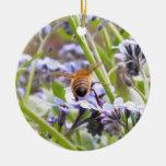 ¡Zumbido!  Parte trasera de la abeja ocupada Ornaments Para Arbol De Navidad