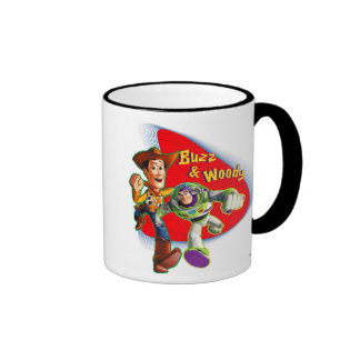 Zumbido y Woody Disney Taza De Dos Colores