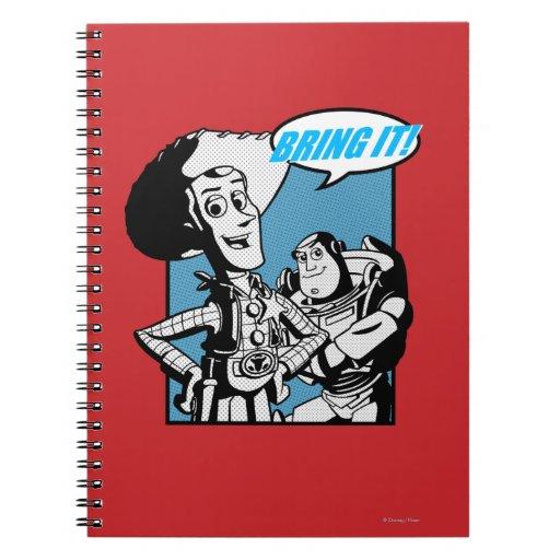 Zumbido y Woody: Tráigalo Libros De Apuntes