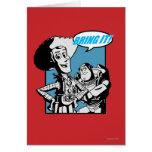 Zumbido y Woody: Tráigalo Tarjeta De Felicitación