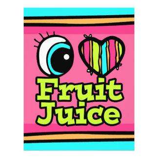 """Zumo de fruta brillante del amor del corazón I del Folleto 8.5"""" X 11"""""""