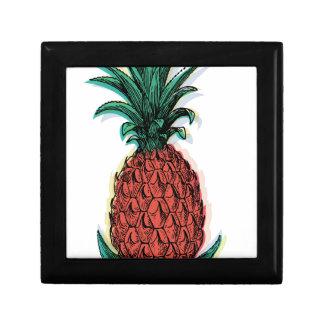 Zumo de fruta tropical de la piña de Wellcoda Joyero Cuadrado Pequeño