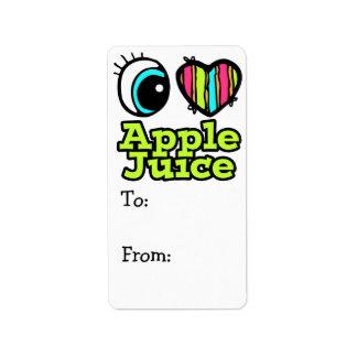 Zumo de manzana brillante de amor del corazón I de Etiqueta De Dirección