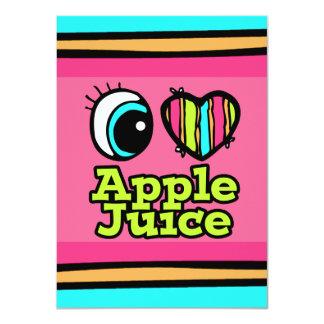 """Zumo de manzana brillante de amor del corazón I Invitación 4.5"""" X 6.25"""""""