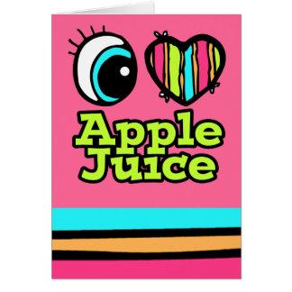 Zumo de manzana brillante de amor del corazón I Tarjeta De Felicitación
