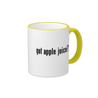 ¿zumo de manzana conseguido? taza de dos colores