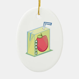 Zumo de manzana adorno ovalado de cerámica