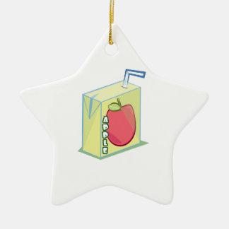 Zumo de manzana adorno de cerámica en forma de estrella