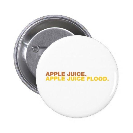 Zumo de manzana. Inundación del zumo de manzana Pins