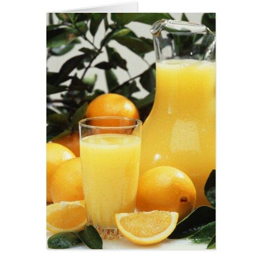 Zumo de naranja tarjeta de felicitación