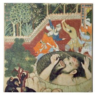 Zumrud Shah baja en un hoyo y es batido por Gard Tejas Cerámicas