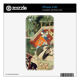 Zumrud Shah falls into a pit and is beaten by gard Decal For The iPhone 4S