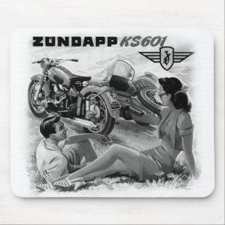 Zundapp Vintage Motorcycle Sidecar Ad Art Mouse Pad