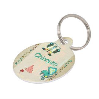 Zuni Butterfly 2 Folk Art Pet Name Tag