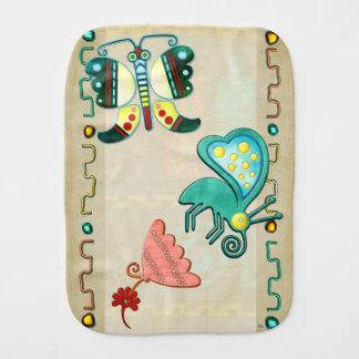 Zuni Butterfly 2 Folk Art Burp Cloths