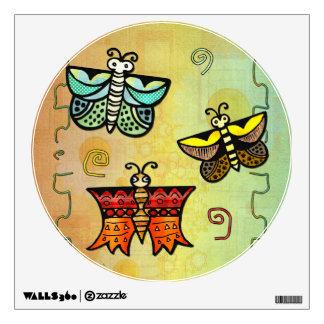 Zuni Butterfly Folk Art DECOR Wall Sticker