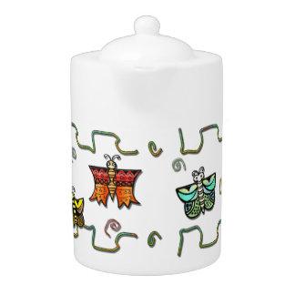 Zuni Butterfly Folk Art Teapot