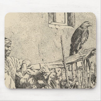 Zuni eagle cage mouse pad