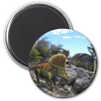 Zuniceratops Dinosaur 2 Inch Round Magnet