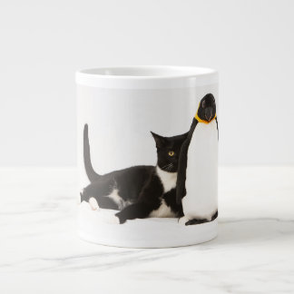 Zunie and the penguin large coffee mug