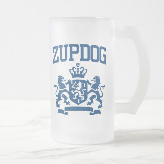 Zupdog? What's Zupdog?  Exactly. 16 Oz Frosted Glass Beer Mug