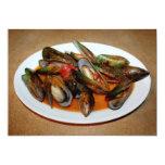 """Zuppa di Mussels 5"""" X 7"""" Invitation Card"""