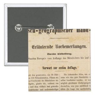 Zur 1 Aufl de la introducción I Vorwart Pin Cuadrada 5 Cm