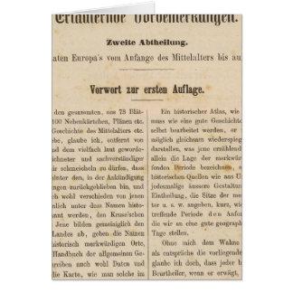 Zur 1 Aufl de la introducción I Vorwart Tarjeta De Felicitación