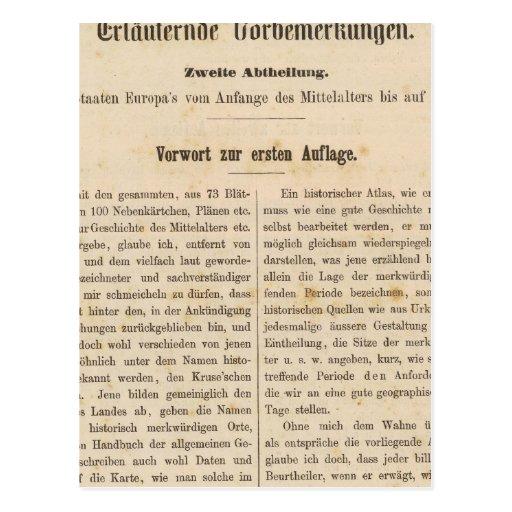 Zur 1 Aufl de la introducción I Vorwart Tarjetas Postales