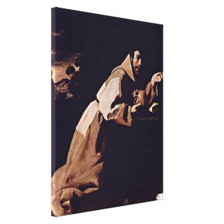 Zurbaran de Francisco - penitent St Francis Stretched Canvas Prints