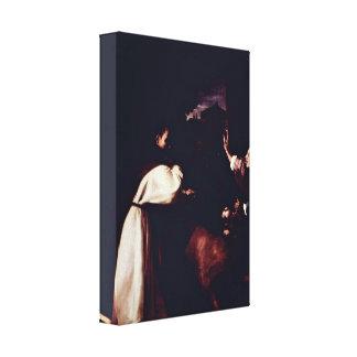 Zurbaran de Francisco - Temptation of Fra Diego Stretched Canvas Prints