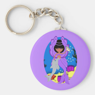 Zuri el llavero púrpura de Merfaery y del delfín