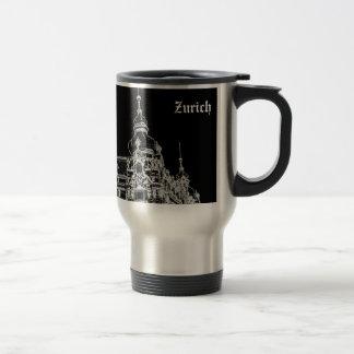 Zurich architecture 15 oz stainless steel travel mug