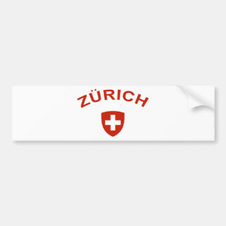 Zurich Bumper Sticker